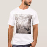 Grand Canyon of Colorado and UtahPanoramic Map T-Shirt