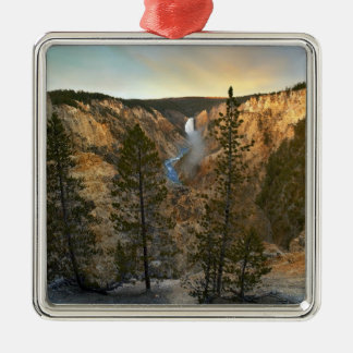 Grand Canyon of Yellowstone, Yellowstone Silver-Colored Square Decoration