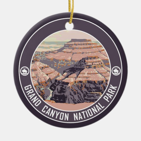 Grand Canyon PHOTO FRAME Souvenir Christmas Ornament