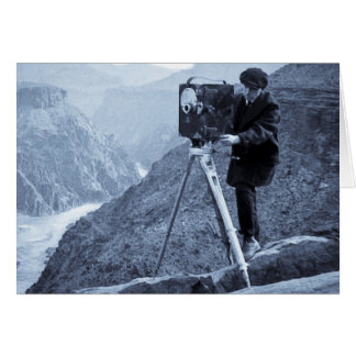 Grand Canyon Photographer Large Movie Camera Greeting Cards