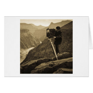 Grand Canyon Photographer Large Movie Camera Greeting Card
