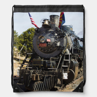 Grand Canyon Railway steam engine 4960 Drawstring Bag