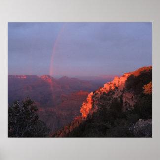 Grand Canyon Rainbow Poster