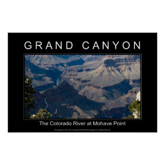 Grand Canyon River 2989 Black Poster