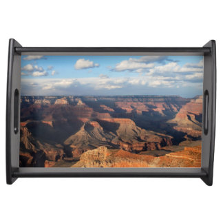 Grand Canyon seen from South Rim in Arizona Serving Tray