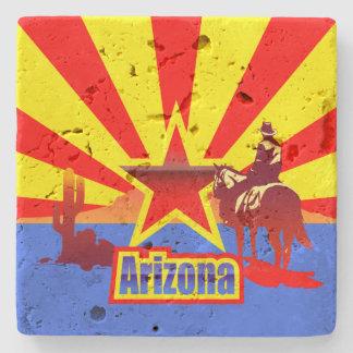 Grand Canyon State Flag Vintage Illustration Stone Coaster