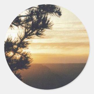 Grand Canyon Sunset Classic Round Sticker