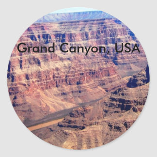Grand Canyon, USA Classic Round Sticker
