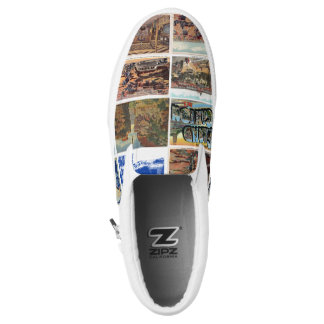 Grand Canyon Vintage Postcards Slip On  Sneaks Printed Shoes