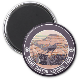 Grand Canyon Vintage Poster Design 6 Cm Round Magnet