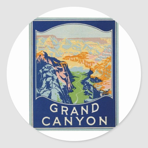 Canapé En Soldes Chez Fly : Grand Canyon  Vintage Travel Stickers  Zazzle