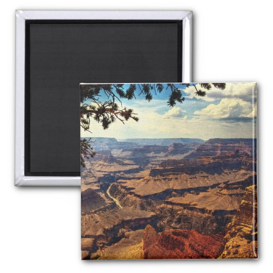 Grand Canyon Vista Square Magnet
