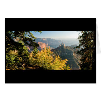 Grand Canyon with a golden birch Greeting Card