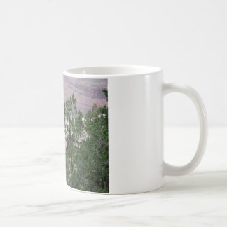 Grand Canyon with Rock and Trees in Front Basic White Mug