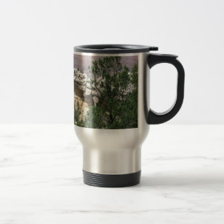 Grand Canyon with Rock and Trees in Front Stainless Steel Travel Mug