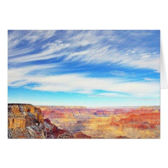 Grand Canyons Arizona Clouds Card