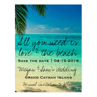 Grand Cayman Island Wedding Save the Date Postcards