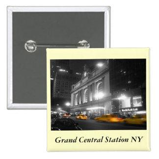 Grand Central Station New York 15 Cm Square Badge