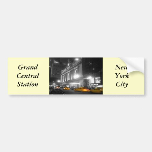Grand Central Station New York Bumper Sticker