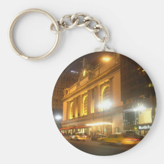 Grand Central Station, NYC Basic Round Button Key Ring