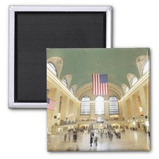 Grand Central Station Square Magnet
