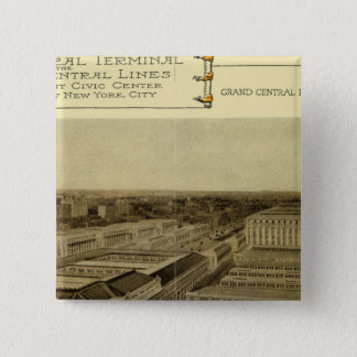 Grand Central Terminal 15 Cm Square Badge