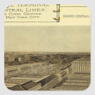 Grand Central Terminal Square Sticker