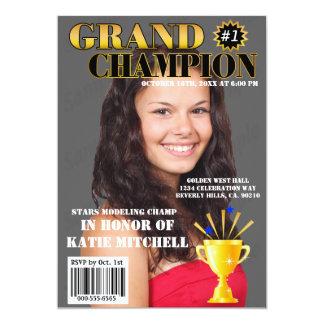 Grand Champion Blue Stars Trophy Magazine Cover 13 Cm X 18 Cm Invitation Card