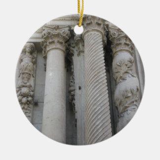 Grand Columns Christmas Ornament
