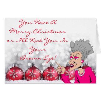 Grand Dame Christmas Card III