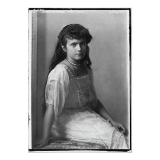 Grand Duchess Anastasia Nikolaevna of Russia 13 Cm X 18 Cm Invitation Card