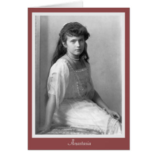Grand Duchess Anastasia Nikolaevna of Russia 1914 Card