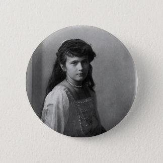 Grand Duchess Anastasia Nikolaevna of Russia 6 Cm Round Badge