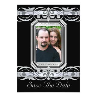 Grand Duchess Black Save The Date Invitation