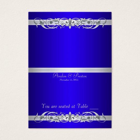 Grand Duchess Blue Folding Table Placecard Business Card