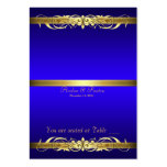 Grand Duchess Blue Gold Scroll Table Placecard