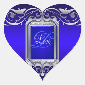 Grand Duchess Blue Heart Silver Love Sticker