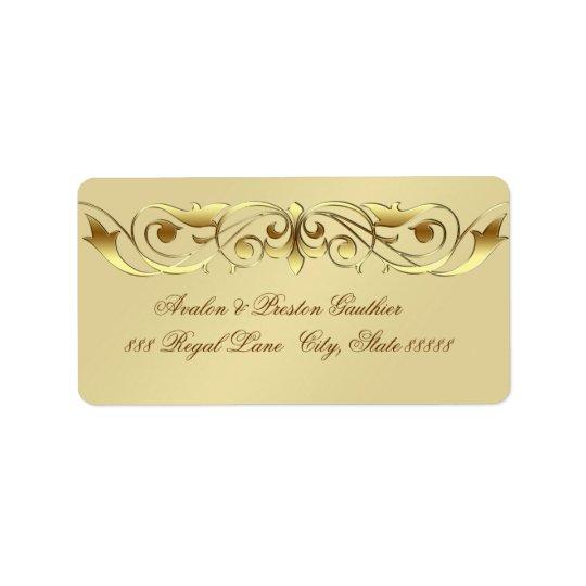 Grand Duchess Faux Gold Scroll Address Labels