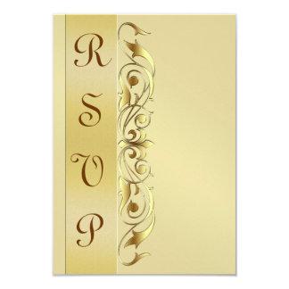 Grand Duchess Gold Metal RSVP Response Invite