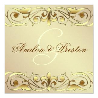 Grand Duchess Gold Metal Scroll Invitation