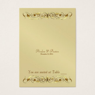 Grand Duchess Gold Metal Scroll Table Placecard