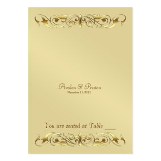 Grand Duchess Gold Metal Scroll Table Placecard Pack Of Chubby Business Cards