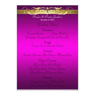 Grand Duchess Pink Scroll Wedding Menu 13 Cm X 18 Cm Invitation Card