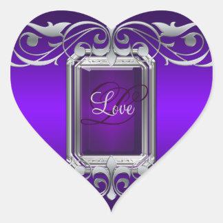 Grand Duchess Purple Heart Silver Love Sticker