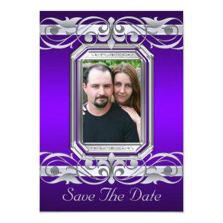 Grand Duchess Purple Save The Date Invitation