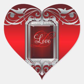 Grand Duchess Red Heart Silver Love Sticker