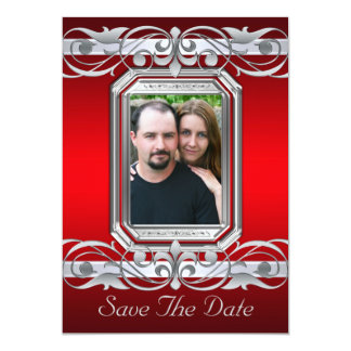 Grand Duchess Red Save The Date Silver Invitation