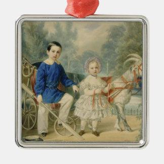 Grand Duke Alexander and Grand Duke Alexey Silver-Colored Square Decoration