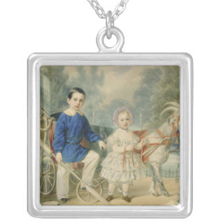 Grand Duke Alexander and Grand Duke Alexey Silver Plated Necklace