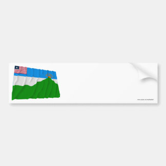 Grand Gedeh County Waving Flag Bumper Stickers